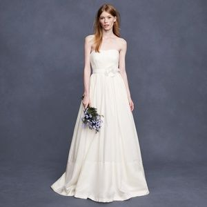 J Crew Corliss Wedding Silk Ball Gown A Line Lined